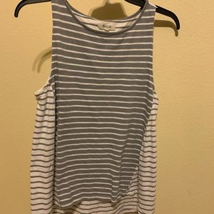 Madewell two toned stripped tank top